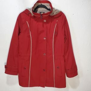 Gallery Red Womens Jacket Sz: L